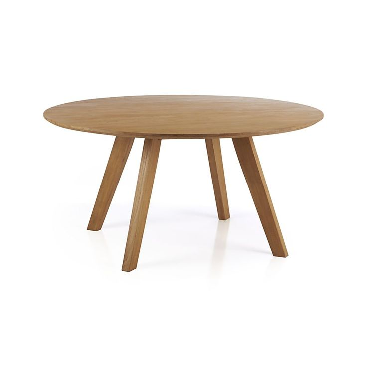 "Could we pull off a ROUND table?  Cayman 60"" Round Dining Table  