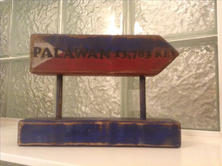 Distance desktop wood painted sign