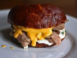At one time, Arby's beef & cheddar was my favorite sandwich.  Warm Beef and Cheddar Sandwiches With Horseradish Sauce | Serious Eats : Recipes
