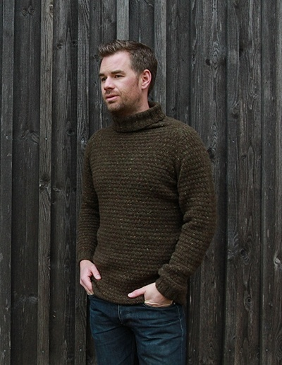 Timberjack Sweater - men's raglan sweater - Pickles - free knit pattern