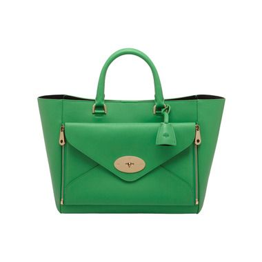 Mulberry - Willow Tote in Queen Green Silky Classic Calf