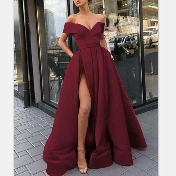 Elegant Fashion Chea Red Long Women Formal Prom Dresses,Evening Gowns 2019 with …