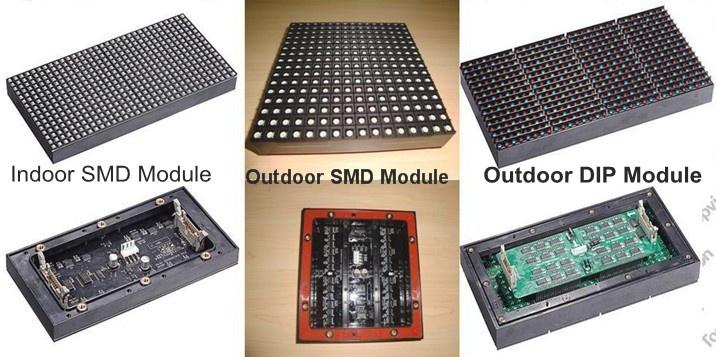 SMD와 DIP 타입 LED 사진