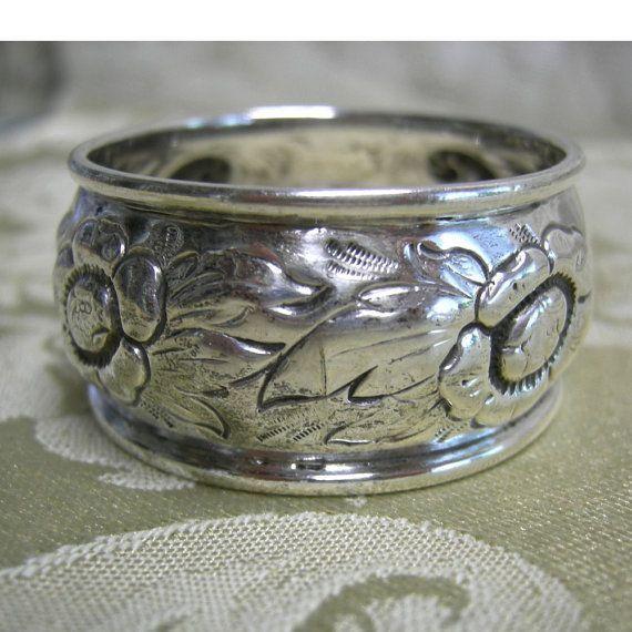 Antique Silver Napkin Ring Circa 1910 by Vintageartshome on Etsy, $30.00
