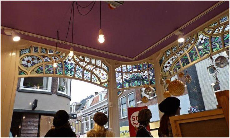 Netherlands- Inside view of corner store-  Meppel