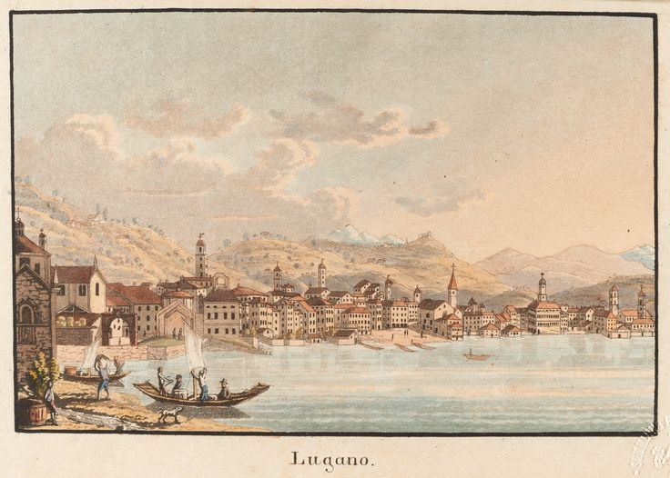 Lugano, von Süden - Collection Gugelmann f