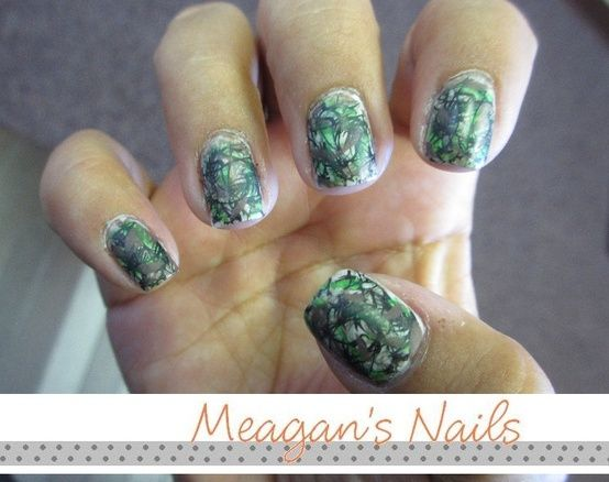 Mossy Oak nails.  So the deer won't spot your manicure?