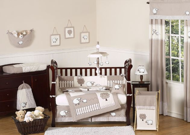 your baby will be counting sheep and off to sleep with little lamb baby bedding pc crib set by sweet jojo designs this cozy gender neutral crib be - Baby Room Ideas Unisex