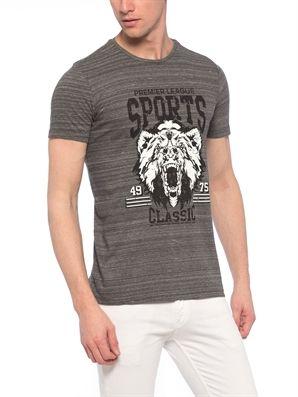 Anthracite Regular Crew Neck Printed T-Shirt, Urun kodu: 7YJ370Z8-670,Fit:Regular,Neck Type:Crew Neck,Design:Printed,Product Type:T-shirts,Main Fabric:%100 Cotton,
