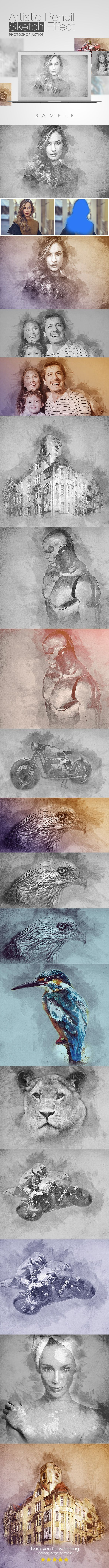 Artistic Pencil Sketch Effect - Photo Effects Actions