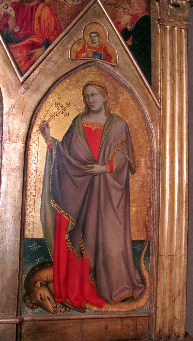 Taddeo Gaddi - Madonna col bambino e santi, dettaglio - 1350 - Chiesa San Martino a Mensola, Firenze