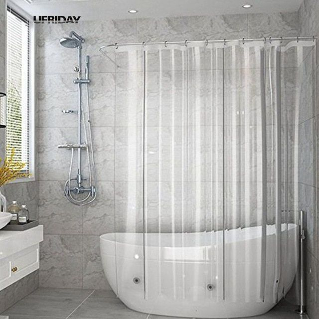 UFRIDAY Volle Transparente Duschvorhang Klar Bad Vorhänge Liner PEVA Mehltau Pr …  – Shower Curtains