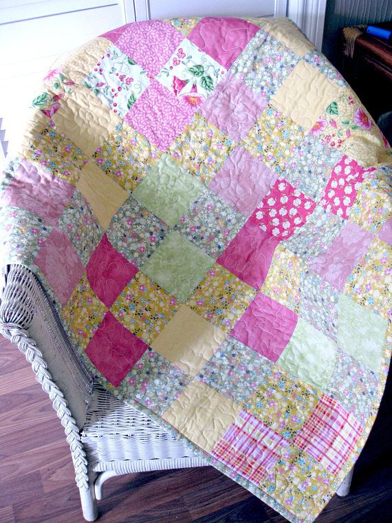 Patchwork Quilt Baby Quilt Baby Girl Quilt Baby Blanket