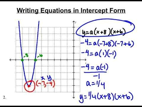 x intercept form quadratic  Intercept Form Quadratic Formula Top Seven Trends In ...