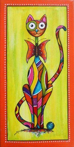 """Le chat """"Papillon"""" by Sylphide."""