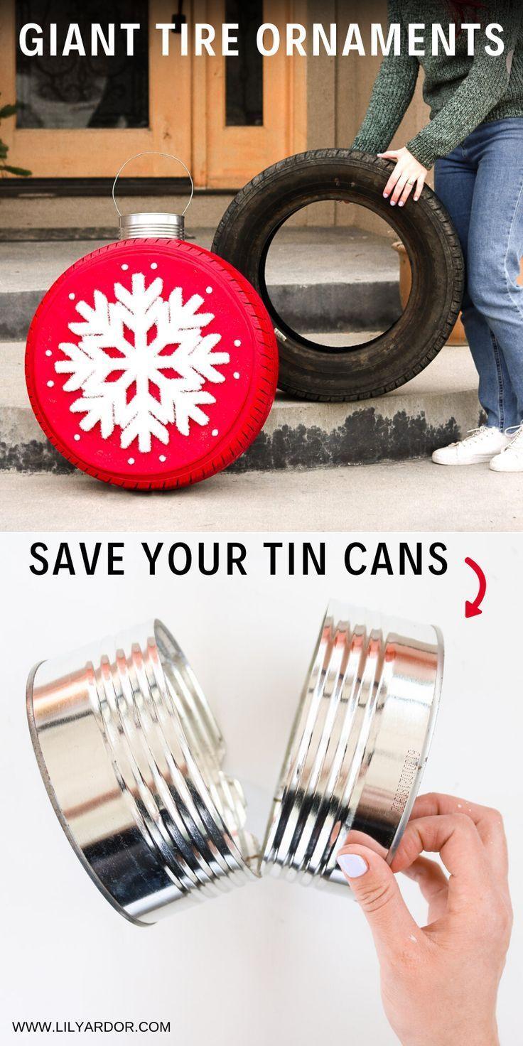 Christmas 2020 Tire Deals Christmas Tire Ornaments in 2020   Xmas decorations diy, Diy clay