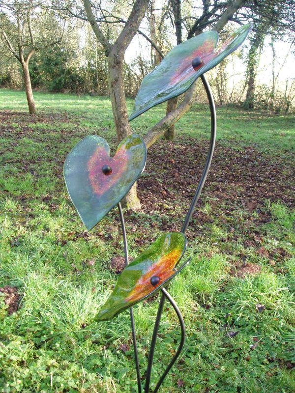 Attractive Glass U0026 Steel Floral, Fruit And Plantlife Sculpture By Artist Lynette  Forrester Titled: U0027