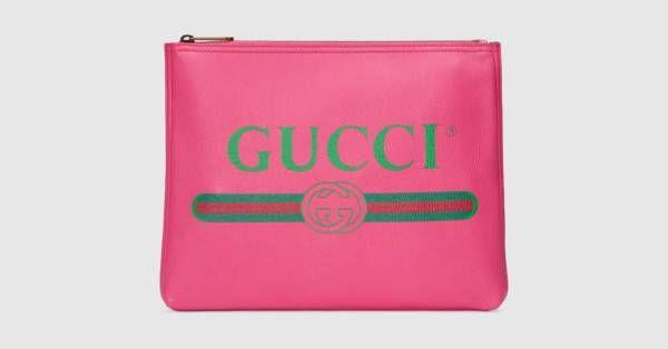 8e43a666069 Gucci - Gucci Print leather medium portfolio