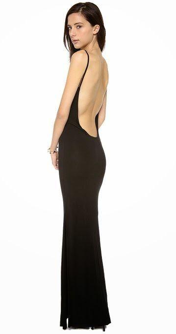 black maxi dress: black backless maxi dress
