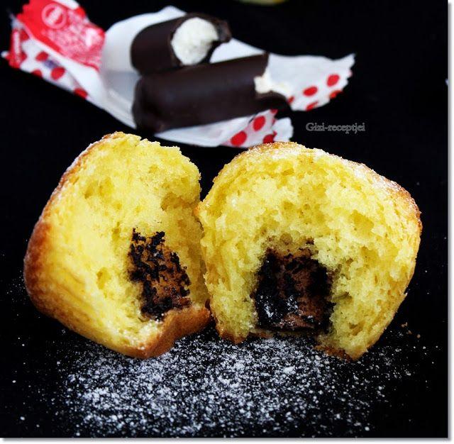 Gizi-receptjei. Várok mindenkit.: Túrós Túró Rudis muffin.