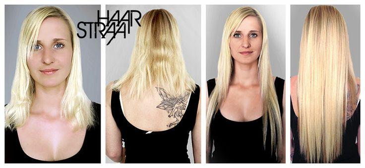 Hair extension før og efter billeder - pre and post extension pix. - HaarStraa