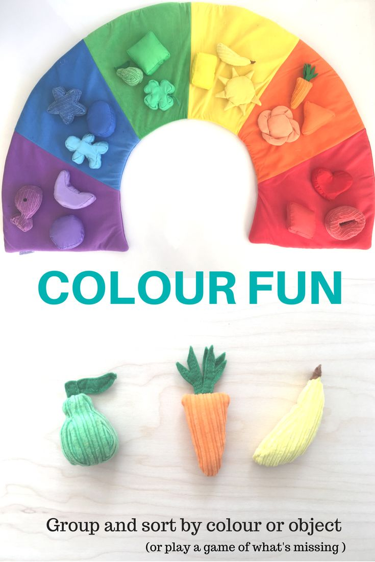 From as early as 1 year old you can start using this soft and inviting colour sorting mat with your children. Kids will quickly become familiar with their basic colours as they play with this mat over and over again. We also use our food in pretend play and we love a game of what's missing!