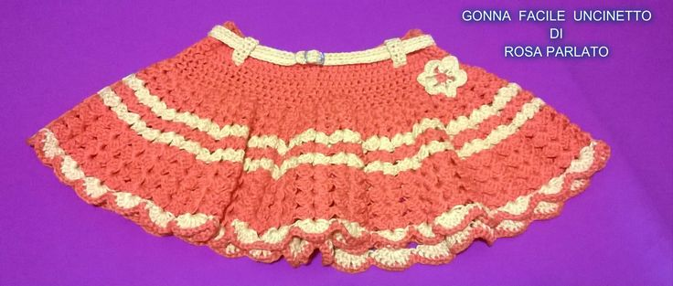 GONNA UNCINETTO FACILE FACILE/TUTORIAL CROCHET