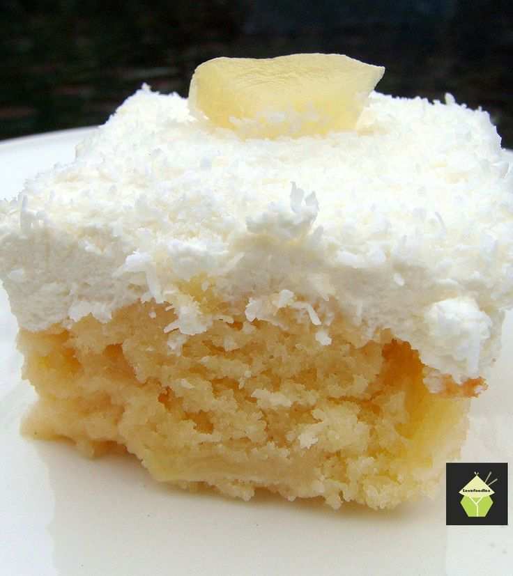 Pineapple & Coconut Cake - This is a pure delight to eat! Come and see what I do to make this cake such a dream. Lovefoodies