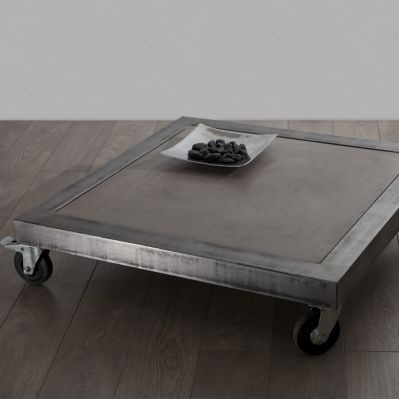 17 best ideas about table basse acier on pinterest - Table basse imitation beton ...