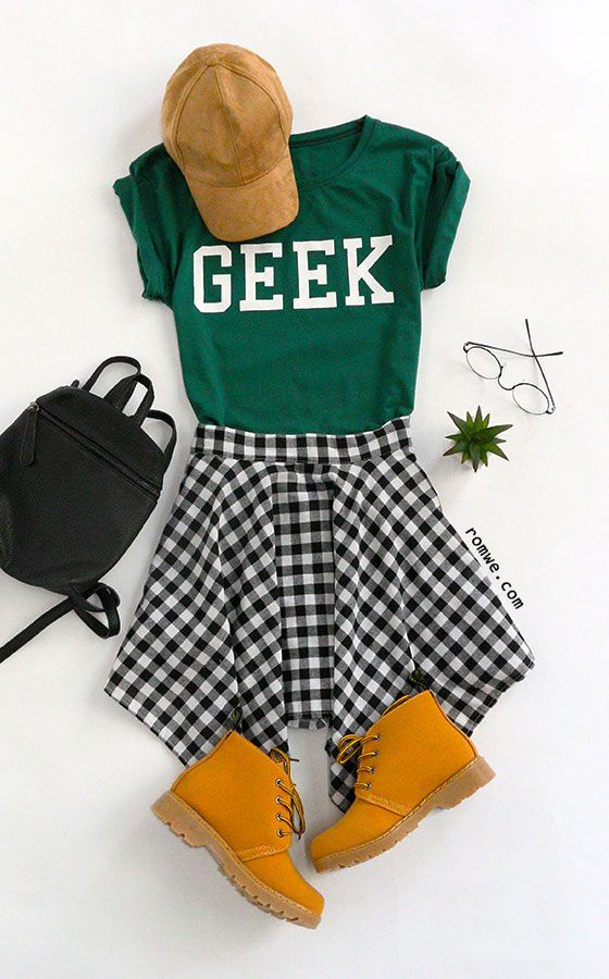 GEEK Print Green T-Shirt