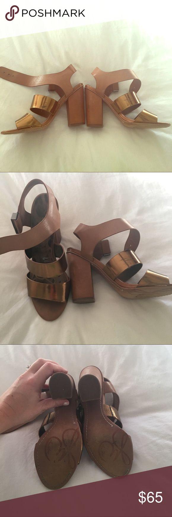 Sam Edelman two toned heels Amazing condition! Few scratch marks. 4 inch heel. Beautiful shoe!! Sam Edelman Shoes Heels