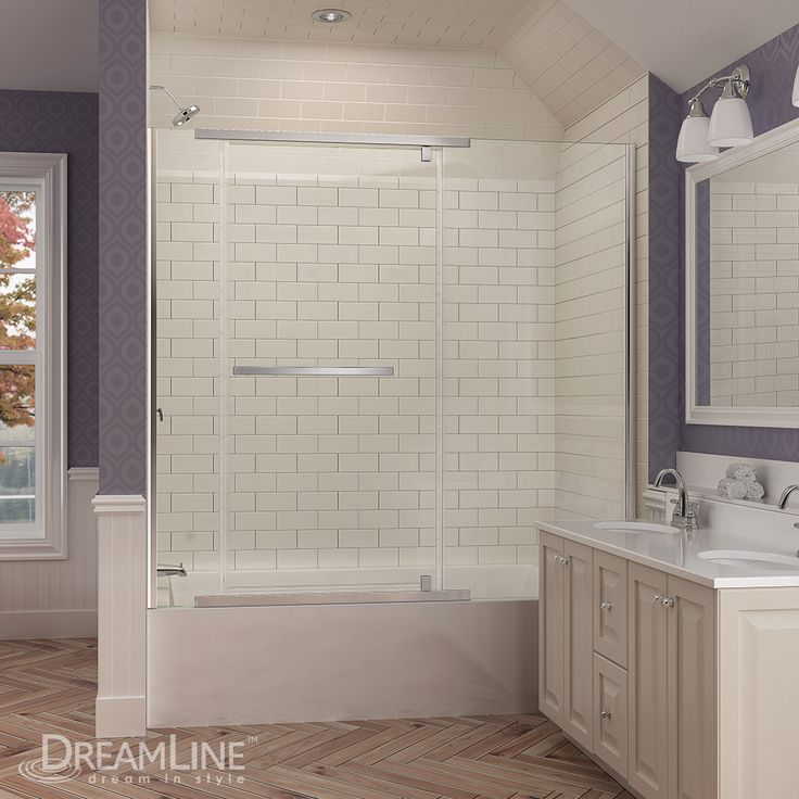 DreamLineu0027s VitreoX Tub Door. Frameless Glass Shower Door Designs By  DreamLine For Your Perfect Bathroom