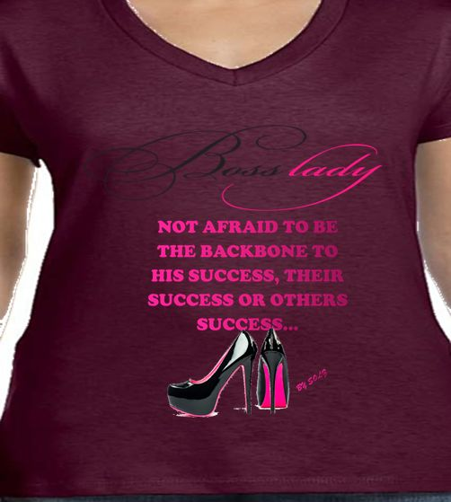 Empowerment Tees- whether the owner of the company, supervisor on the job, a mom-n-charge or just encouraged by yourself. Let these Tees be your billboard to tell the world without you saying a single word. Let them know You're in control of YOU.  Other slogans for the spiritual woman or man in you to come. Watch out for them. All that I do is because the BOSS who DIED on the CROSS. MEN'S Tees to come. LOOK FOR THEM.  *DISCLAIMER*- All Shirts are Custom Orders - give 3-7 Days for production…
