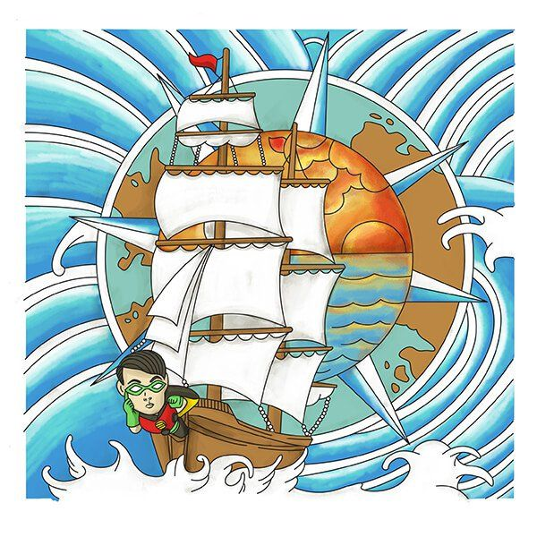 Robin on a Boat Tattoo Design Idea