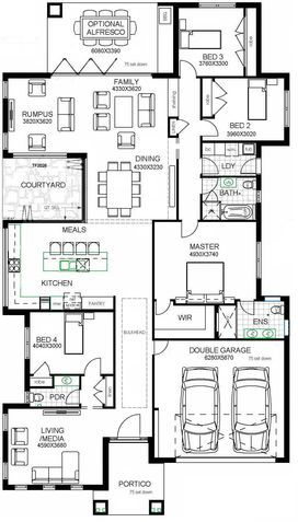 Huxley Homes - Appleby.  Could turn the 4th bedroom into the office.  Like the courtyard & the layout of the master suite