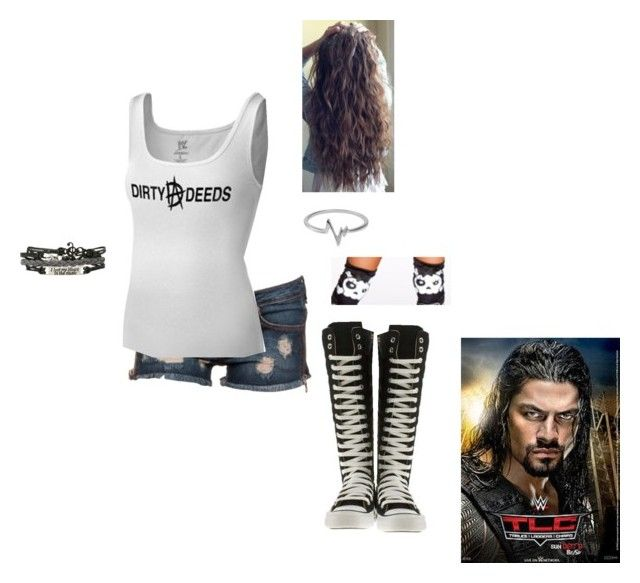 """""""WWE Divas Match"""" by lola-guadalupe-delgado on Polyvore featuring Frankie B., Converse and Jewel Exclusive"""