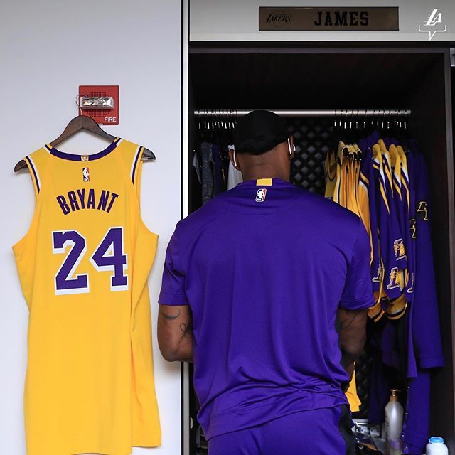 Los Angeles Lakers On Instagram This Locker In 2020 Lebron James Lakers Kobe Bryant Black Mamba Kobe Bryant