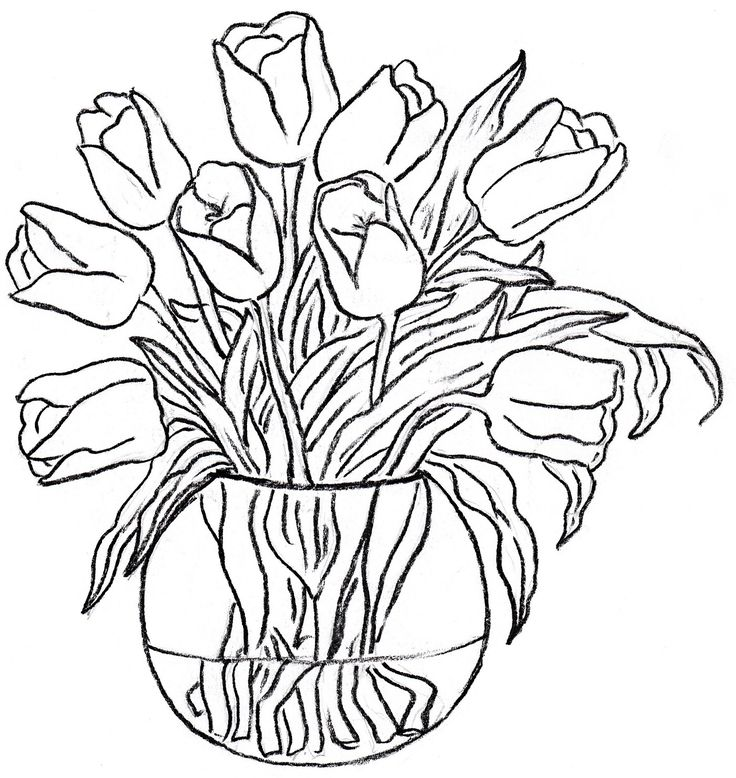 Colouring Pages Of Flowers In Vase : 14 best glasspaintings.org images on pinterest