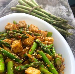 stir-fried asparagus - Dora Villarosa