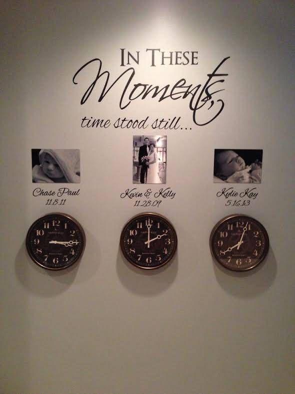 In these moments time stood still met data 2 Muursticker