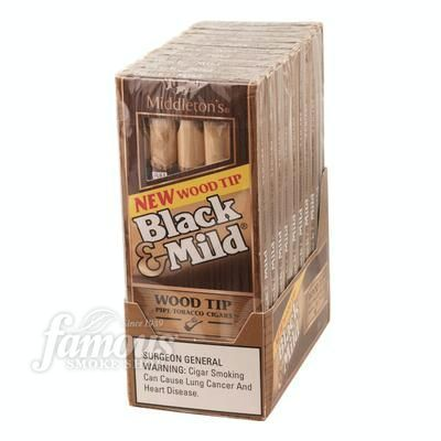 Take a look at our Black & Mild By Middleton Wood Tip 10/5 Natural Cigars as well as other cigars here at Famous Smoke Shop.