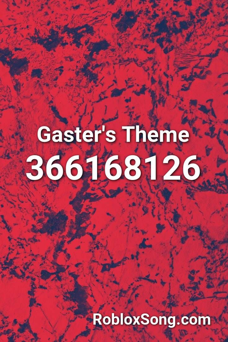 Gaster S Theme Roblox Id Roblox Music Codes In 2020 Gaster Roblox Listening To Music