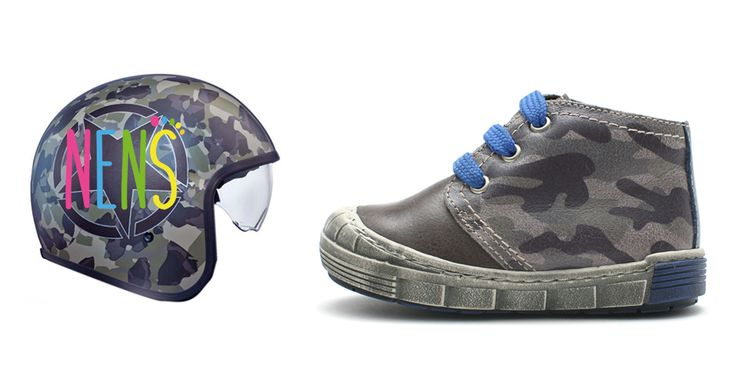 NENS warrior style boots. The camouflage print, wins the battle in your children's closet this season. Available in sizes 24 - 40