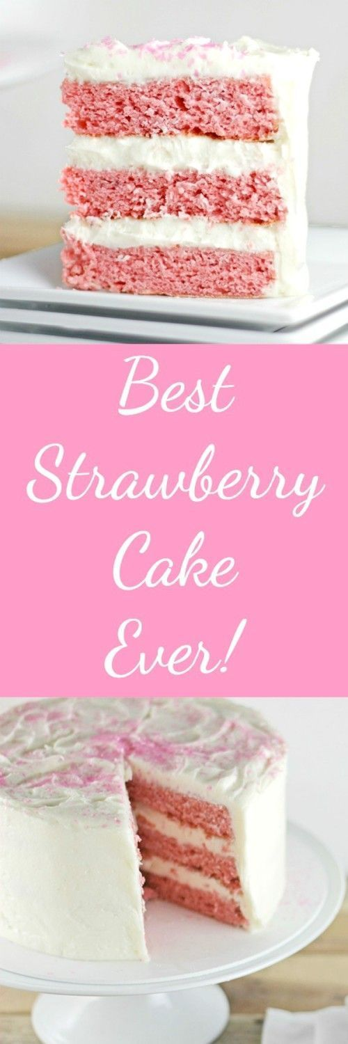 Best Strawberry Cake Ever http://RoseBakes.com