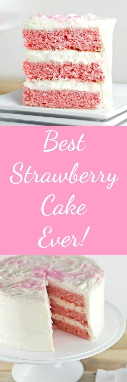 Best Strawberry Cake Ever RoseBakes.com