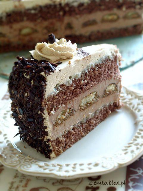 Tort kawowo-bananowy