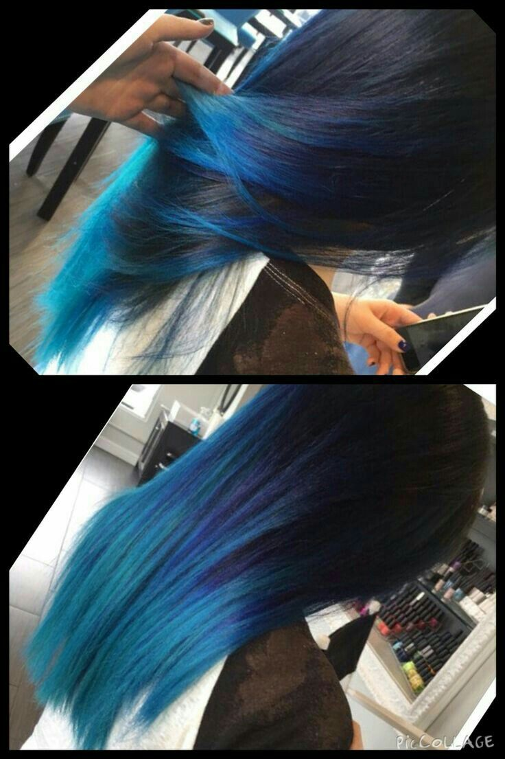Mavi saç - blue hair----- I don't think I'd be able to pull it off.
