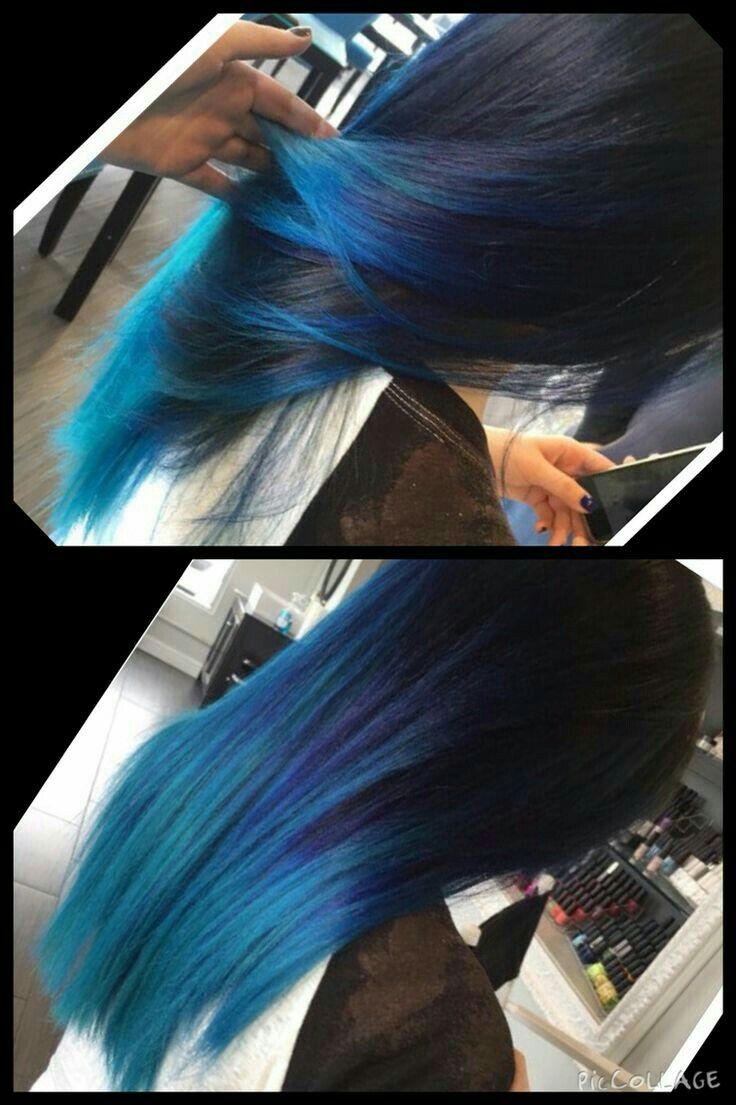 Mavi saç - blue hair