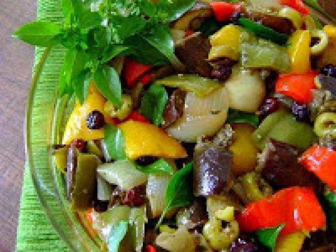 Salada de Berinjela (vegana)