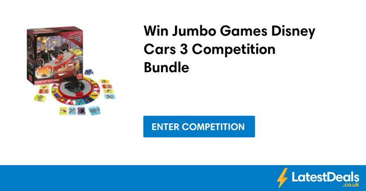 Win Jumbo Games Disney Cars 3 Competition Bundle